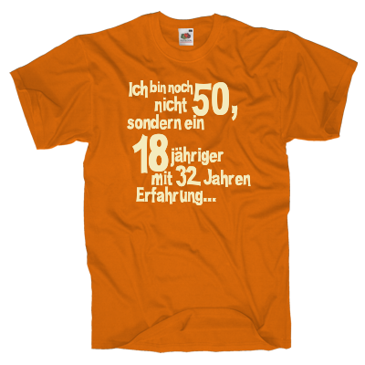 18+32 T-Shirt Shirt online mit dem Shirtdesigner gestalten