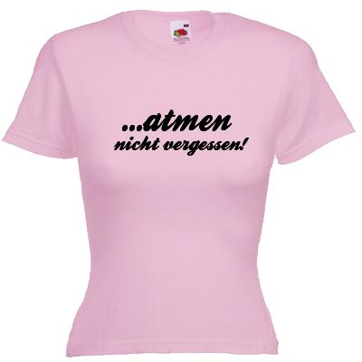 Atmen nicht vergessen Shirt online mit dem Shirtdesigner gestalten