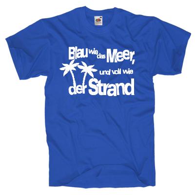Blau wie das Meer T-Shirt Shirt online mit dem Shirtdesigner gestalten