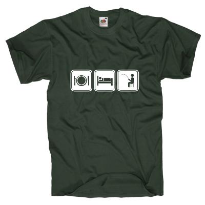 Essen, Schlafen, Angeln T-Shirt Shirt online mit dem Shirtdesigner gestalten