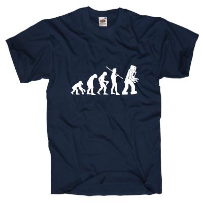 Evolution Roboter Shirt online mit dem Shirtdesigner gestalten