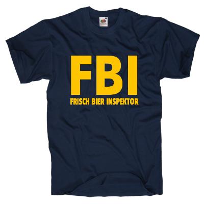 FBI Frisch Bier Inspektor Shirt Shirt online mit dem Shirtdesigner gestalten