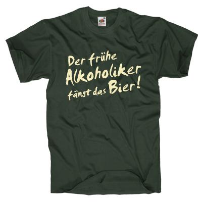 Frühe Alkoholiker T-Shirt Shirt online mit dem Shirtdesigner gestalten
