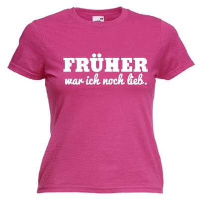 Früher war ich noch lieb Shirt online mit dem Shirtdesigner gestalten