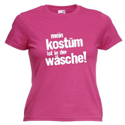 Mein Kostüm ist in der Wäsche Shirt online mit dem Shirtdesigner gestalten