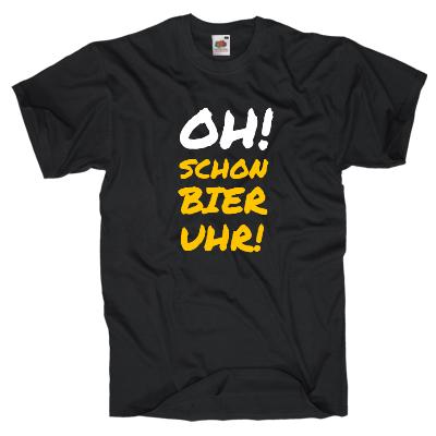 Oh schon Bier Uhr Shirt online mit dem Shirtdesigner gestalten