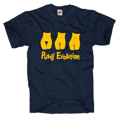 Pussy Evolution Shirt Shirt online mit dem Shirtdesigner gestalten