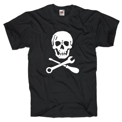 Totenkopf für Schrauber T-Shirt Shirt online mit dem Shirtdesigner gestalten