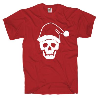 Totenkopf Weihnachen T-Shirt Shirt online mit dem Shirtdesigner gestalten