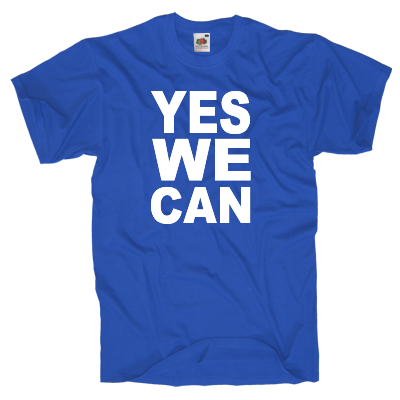 Yes we can T-Shirt Shirt online mit dem Shirtdesigner gestalten