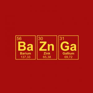 BaZnGa Periodensystem T-Shirt bedrucken
