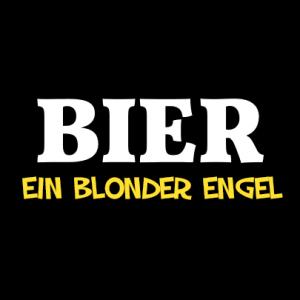Bier, ein blonder Engel T-Shirt bedrucken