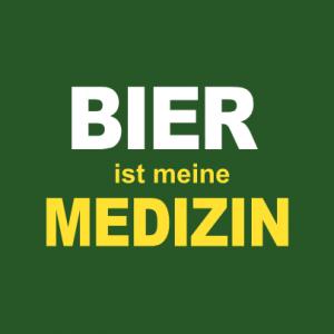 Bier ist meine Medizin T-Shirt bedrucken
