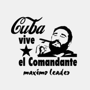 Cuba vive el Comandante maximo leader T-Shirt bedrucken