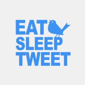 Eat sleep tweet T-Shirt bedrucken