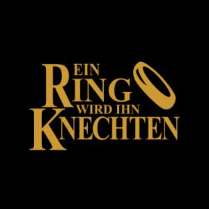 Ein Ring wird Ihn Knechten T-Shirt bedrucken