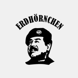 Erdhörnchen Saddam T-Shirt bedrucken