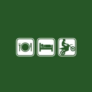 Essen schlafen Biken T-Shirt bedrucken