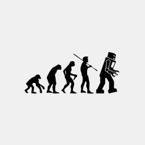 EVOLUTION Roboter T-Shirt bedrucken