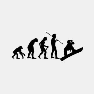 EVOLUTION Snowboard T-Shirt bedrucken