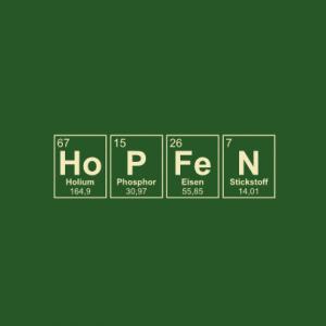 Hopfen Periodensystem T-Shirt bedrucken
