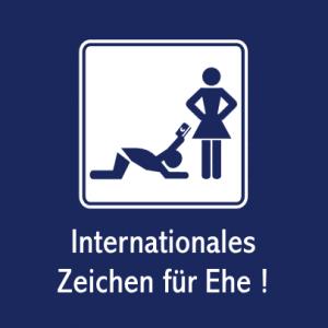 Internationales Zeichen für Ehe! T-Shirt bedrucken