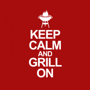 Keep calm an grill on T-Shirt bedrucken