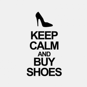 Keep Calm and buy shoes T-Shirt bedrucken