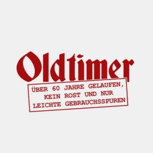 Oldtimer über 60 Jahre gelaufen T-Shirt bedrucken