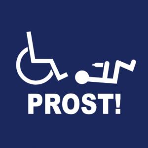 Prost Rollstuhl T-Shirt bedrucken