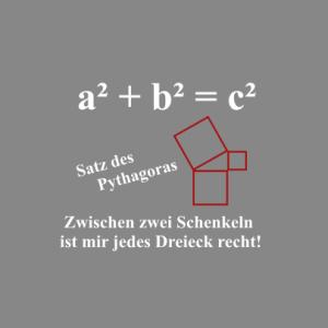 Satz des Pythagoras T-Shirt bedrucken