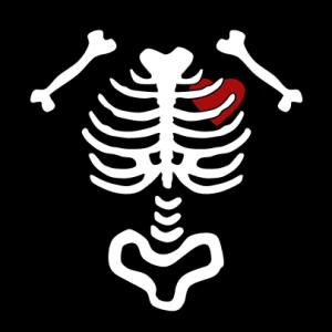 Skelett Herz T-Shirt bedrucken