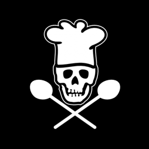 Totenkopf Koch T-Shirt bedrucken