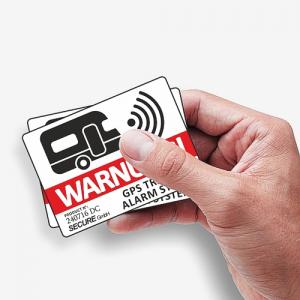 Aufkleber GPS Warnung Sicherheit für den Wohnwagen