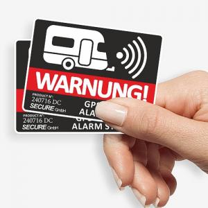Aufkleber Wohnwagen GPS Warnung für mehr Wohnwagen-Sicherheit
