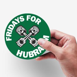 Aufkleber Fridays for Hubraum Gegenbewegung zu Fridays for Future