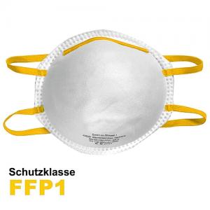 FFP 1 Atemschutzmaske mit formbaren Nasenbügel
