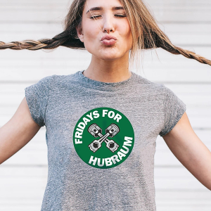 Fridays for Hubraum Shirt, das richtige Auto Shirt für die Gretel