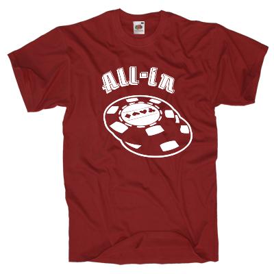 All-in Poker Shirt Shirt online mit dem Shirtdesigner gestalten