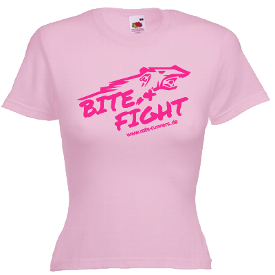 Bite and fight Girlie Shirt Shirt online mit dem Shirtdesigner gestalten