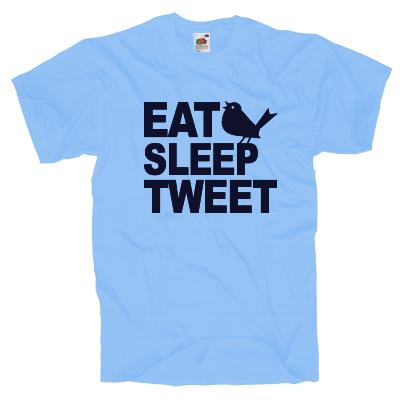 Eat, Sleep, Tweet T-Shirt Shirt online mit dem Shirtdesigner gestalten