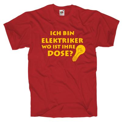 Elektriker T-Shirt Shirt online mit dem Shirtdesigner gestalten