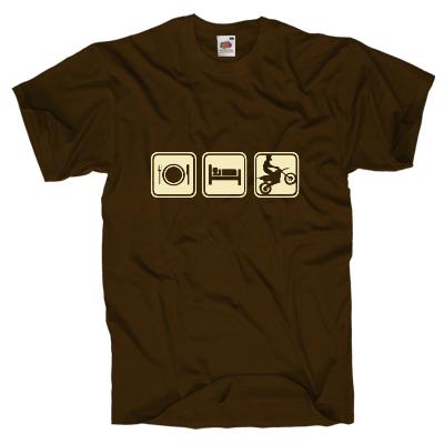 Essen, schlafen Motocross Shirt online mit dem Shirtdesigner gestalten