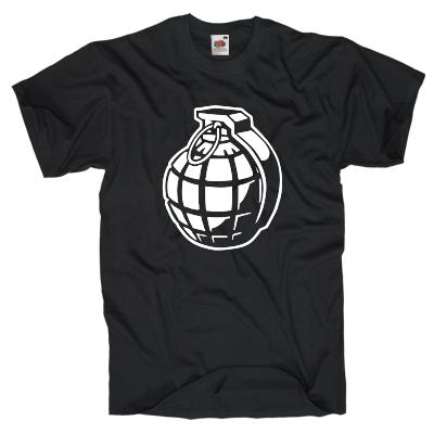 Handgranate T-Shirt Shirt online mit dem Shirtdesigner gestalten