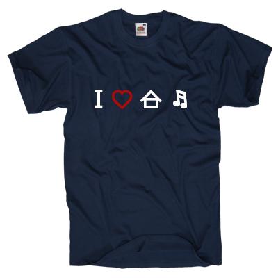 I love housemusic Shirt online mit dem Shirtdesigner gestalten