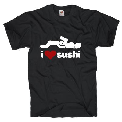 I love Sushi Shirt online mit dem Shirtdesigner gestalten