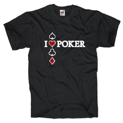 I lover Poker Shirt Shirt online mit dem Shirtdesigner gestalten