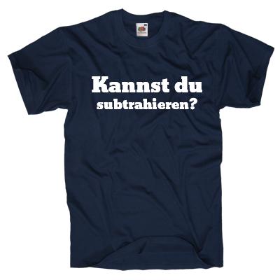 Kannst du subtrahieren? Shirt online mit dem Shirtdesigner gestalten