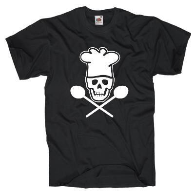 Koch Piratenkopf T-Shirt Shirt online mit dem Shirtdesigner gestalten