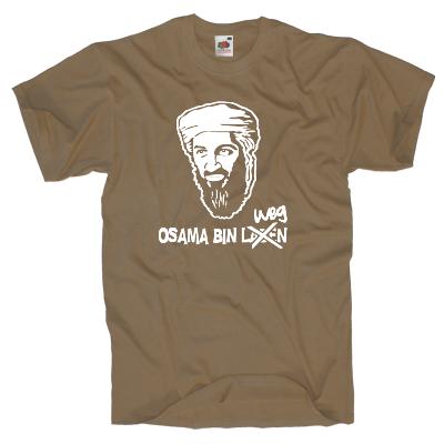 Osama bin weg T-Shirt Shirt online mit dem Shirtdesigner gestalten